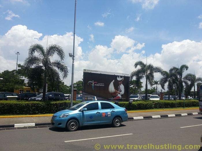 Outside jakarta airport