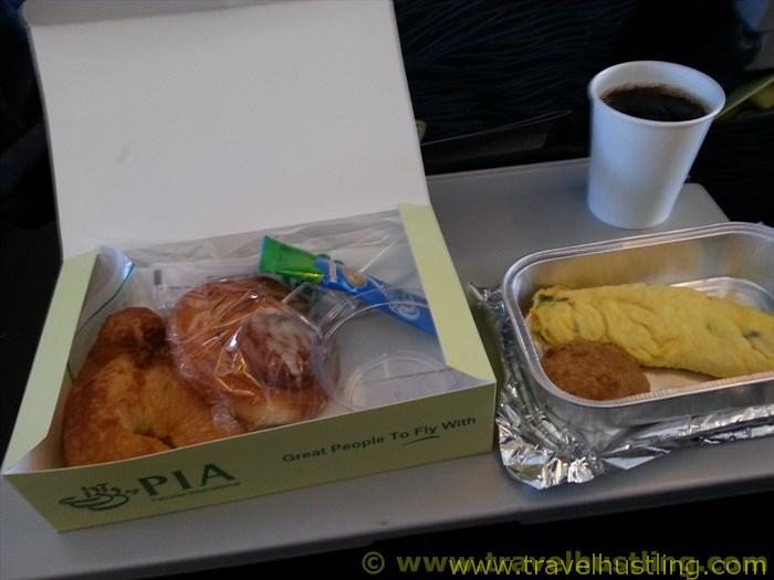 PIA breakfast on flight to lahore
