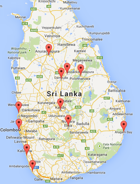 sri lanka travel plan