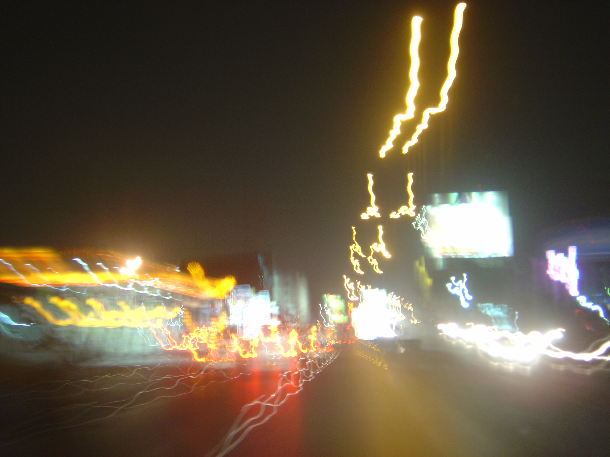 Karachi night in a blur